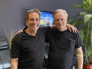 Dr. Pinto and Randall Kelley